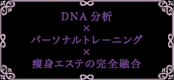 DNA分析×パーソナルトレーニング×痩身エステの完全融合